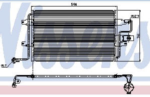 AUDI A3 {OCTAVIA/COLFIV/TOLEDO 98-/BORA} КОНДЕНСАТОР КОНДИЦ (NISSENS) (NRF) (GERI) (см.каталог)