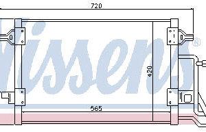 AUDI A4 {+ PASSAT 96- (565x420mm)} КОНДЕНСАТОР КОНДИЦ (NISSENS) (AVA) (см.каталог)