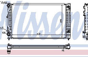 AUDI A4 {A6 97-/PASSAT 96-} РАДИАТОР ОХЛАЖДЕН (NISSENS) (AVA) (см.каталог)