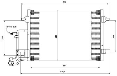 AUDI A6 {ALLROAD 00-} КОНДЕНСАТОР КОНДИЦ (NISSENS) (NRF) (см.каталог)
