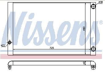 AUDI A8 РАДИАТОР ОХЛАЖДЕН (NISSENS) (см.каталог)
