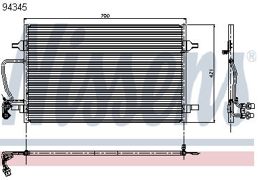 AUDI A8 КОНДЕНСАТОР КОНДИЦ (NISSENS) (NRF) (GERI) (см.каталог)