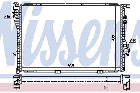 E38 {E39 94-} РАДИАТОР ОХЛАЖДЕН (NISSENS) (NRF) (GERI) (см.каталог)