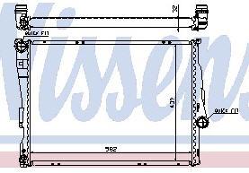 E46 {+Z4} РАДИАТОР ОХЛАЖДЕН (NISSENS) (NRF) (GERI) (см.каталог)