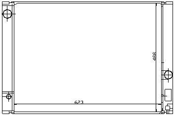 E60 {E63/E64 04-/E65/E66 01-} РАДИАТОР ОХЛАЖДЕН (NISSENS) (AVA) (см.каталог)