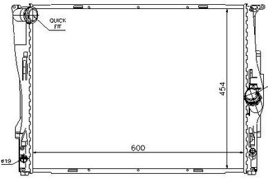E87 {E90/91/92} РАДИАТОР ОХЛАЖДЕН (NISSENS) (см.каталог)