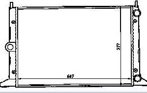 GALLAXY {SHARAN 95-/ALHAMBRA 96-} РАДИАТОР ОХЛАЖДЕН (см.каталог)