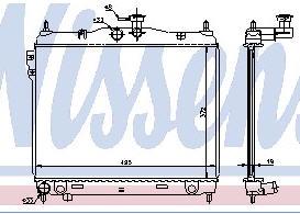 GETZ {372 x 495 mm} РАДИАТОР ОХЛАЖДЕН (NISSENS) (NRF) (GERI) (см.каталог)