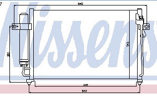 GETZ {535 x 325 mm} КОНДЕНСАТОР КОНДИЦ MT (NISSENS) (AVA) (см.каталог)