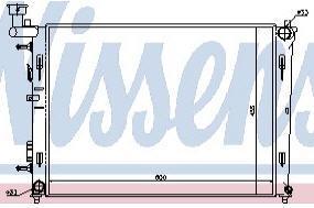 I30 {ELANTRA 07-} РАДИАТОР ОХЛАЖДЕН (NISSENS) (см.каталог)