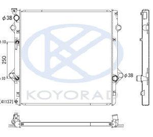GX460 РАДИАТОР ОХЛАЖДЕН 4.6 AT (KOYO)