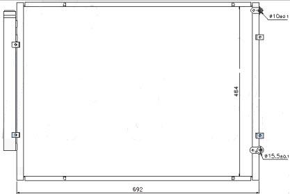 RX300 {RX330/HARIER/HIGHLANDER 05-} КОНДЕНСАТОР КОНДИЦ 3.3