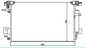 LANCER {Outlander/C-Crosser/4007 07-} КОНДЕНСАТОР КОНДИЦ (NISSENS) (см.каталог)