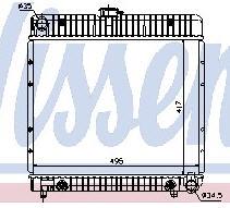 W123 {W126 79-85} РАДИАТОР ОХЛАЖДЕН (NISSENS) (NRF) (GERI) (см.каталог)