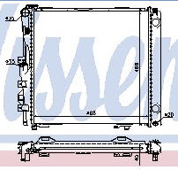 W126 РАДИАТОР ОХЛАЖДЕН (NISSENS) (NRF) (см.каталог)