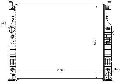 W164/ML {W251} РАДИАТОР ОХЛАЖДЕН (NISSENS) (см.каталог)