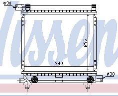 W201 {W124 84-90} РАДИАТОР ОХЛАЖДЕН (NISSENS) (AVA) (см.каталог)