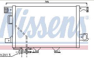 W203 {+W209 02-} КОНДЕНСАТОР КОНДИЦ (NISSENS) (NRF) (см.каталог)