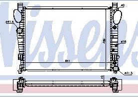 W220 {+ W215 00-} РАДИАТОР ОХЛАЖДЕН (NISSENS) (см.каталог)