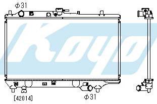 323F РАДИАТОР ОХЛАЖДЕН MT 1.6 1.8 (5 дв) (KOYO)