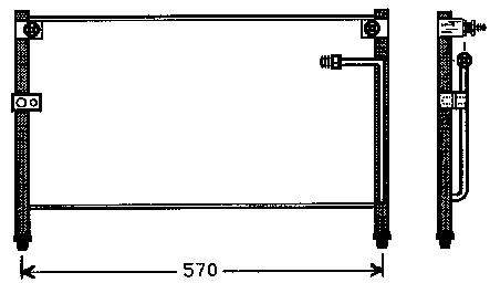 626 {MX-6 93-} КОНДЕНСАТОР КОНДИЦ (NISSENS) (NRF) (GERI) (см.каталог)