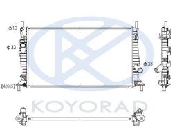 3 {+ FD FOCUS 05- / C-MAX 03-/ VV S40 04-} РАДИАТОР ОХЛАЖДЕН 1.3 1.6 2 (KOYO)