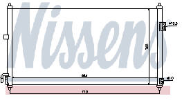 X-TRAIL КОНДЕНСАТОР КОНДИЦ (NISSENS) (NRF) (GERI)