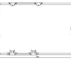 ASTRA {+ZAFIRA/ 540x380mm} КОНДЕНСАТОР КОНДИЦ (NISSENS) (NRF) (GERI) (см.каталог)