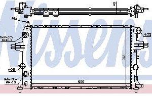 ASTRA {+ZAFIRA} РАДИАТОР ОХЛАЖДЕН (дизель) (NISSENS) (AVA) (см.каталог)