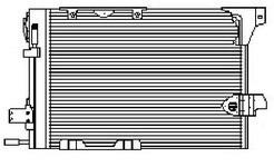 ASTRA {+ZAFIRA/ 540x380mm} КОНДЕНСАТОР КОНДИЦ (NISSENS) (AVA) (см.каталог)
