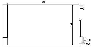 CORSA КОНДЕНСАТОР КОНДИЦ (NISSENS) (AVA) (см.каталог)