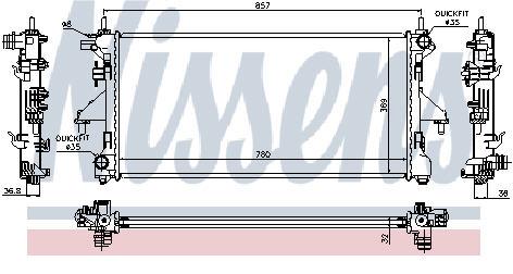 BOXER {CT JUMPER/FIAT DUCATO} РАДИАТОР ОХЛАЖДЕН (NISSENS) (см.каталог)