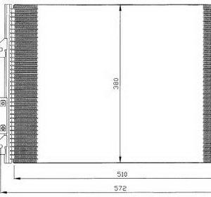 CLIO {+ SIMBOL 01-/KANGO 98-03} КОНДЕНСАТОР КОНДИЦ (NISSENS) (AVA) (см.каталог)