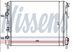 CLIO {+SYMBOL 98- /KANGOO 98-/ LOGAN 04-} РАДИАТОР ОХЛАЖДЕН (NISSENS) (AVA) (см.каталог)