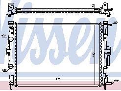 MEGANE {+ SCENIC 03-} РАДИАТОР ОХЛАЖДЕН (NISSENS) (NRF) (GERI) (см.каталог)