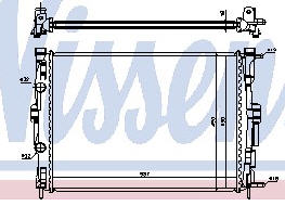 MEGANE {+ SCENIC 03-/Kangoo 08-} РАДИАТОР ОХЛАЖДЕН (NISSENS) (NRF) (GERI) (см.каталог)