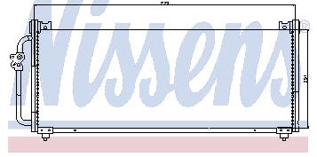 IMPREZA {735x291mm} КОНДЕНСАТОР КОНДИЦ (NISSENS) (NRF) (GERI) (см.каталог)