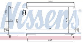 IMPREZA {711x326mm} КОНДЕНСАТОР КОНДИЦ (NISSENS) (NRF) (GERI) (см.каталог)