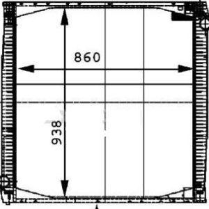 SCANIA 114 {860 x 920 x 40 mm} РАДИАТОР ОХЛАЖДЕН (см.каталог)