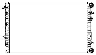 FABIA {POLO 01-/IBIZA01-/CORDOBA 02-} РАДИАТОР ОХЛАЖДЕН (NISSENS) (AVA) (см.каталог)