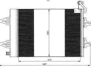 FABIA {ROOMSTER 06- /VW POLO 01-/IBIZA01-/CORDOBA 02-} КОНДЕНСАТОР КОНДИЦ (NISSENS) (AVA) (см.каталог)