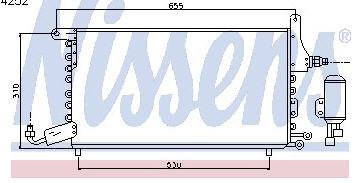 TOLEDO {CHERY AMULET 05-} КОНДЕНСАТОР КОНДИЦ (NISSENS) (см.каталог)