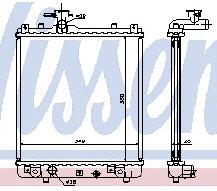 IGNIS {+ WAGON R+00-/OP AGILA 00- / SB JUSTY 03-} РАДИАТОР ОХЛАЖДЕН MT (NISSENS) (см.каталог)