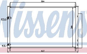 AURIS {COROLLA 07-} КОНДЕНСАТОР КОНДИЦ (NISSENS) (см.каталог)