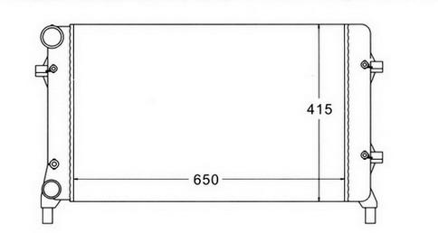 GOLF {+ AU A3 03-/ SD OCTAVIA 04-/PASSAT 05-} РАДИАТОР ОХЛАЖДЕН (см.каталог)