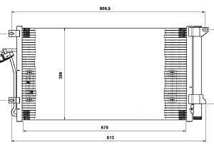 TOUAREG {PORSCHE CAYENNE 02-/AUDI Q7 06-} КОНДЕНСАТОР КОНДИЦ (NISSENS) (AVA) (см.каталог)