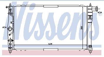 LANOS РАДИАТОР ОХЛАЖДЕН 1.3 1.5 1.6 AT MT (NISSENS) (AVA)