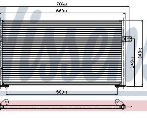 S40 {+V40} КОНДЕНСАТОР КОНДИЦ (NISSENS) (AVA) (см.каталог)