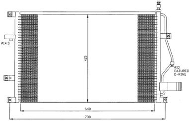 S80 {+(S70/V70/C70/XC70/S60 00- )} КОНДЕНСАТОР КОНДИЦ БЕЗ ОСУШИТ. (NISSENS) (AVA) (см.каталог)