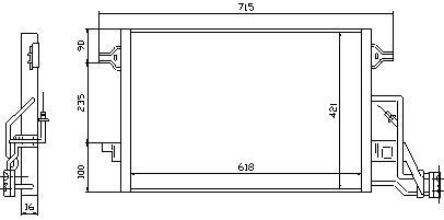 PASSAT {SUPER B} КОНДЕНСАТОР КОНДИЦ (NISSENS) (AVA) (см.каталог)